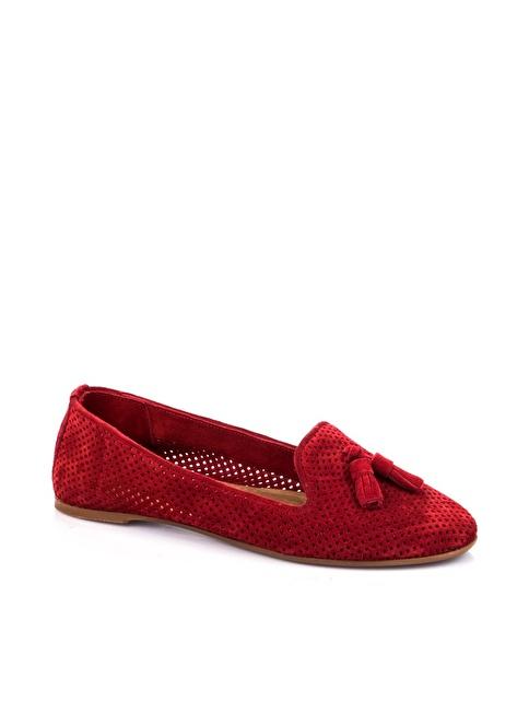 Elle Deri Corcik Ayakkabı Kırmızı